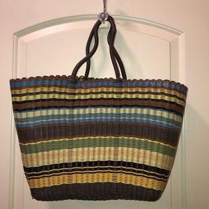 Handmade Picnic Plastic straw Handbag.